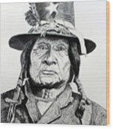 Tosawi Comanche Chief Wood Print
