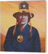 Tosh-a-wah,peneteka Comanche Chief Wood Print