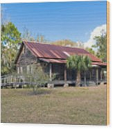 Tosohatchee Cattle Ranch In Central Florida Wood Print