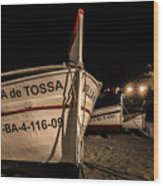 Tossa De Mar By Night Wood Print