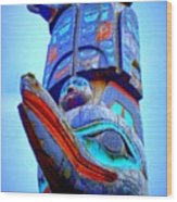 Totem 42 Wood Print
