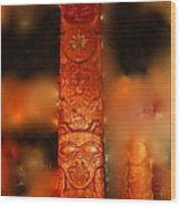 Totem For House Of Human Beings Wood Print