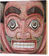 Totem Pole Detail Wood Print