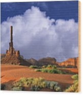 Totem Pole Monument Valley Wood Print
