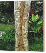 Totem Serpiente Emplumada Wood Print