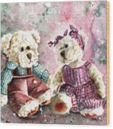 Toto Et Lolo Wood Print