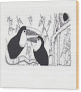 Toucans Central Park Wood Print