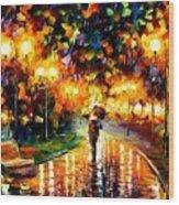 Touch Of Rain Wood Print