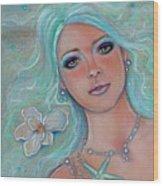 Touch Of Spring Mermaid Wood Print