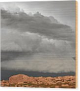 Touch The Clouds Wood Print by Christine Till