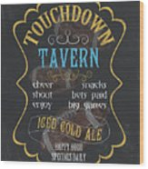 Touchdown Tavern Wood Print