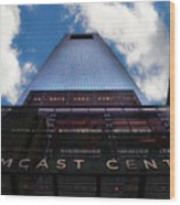 Touching The Sky - Comcast Center Wood Print