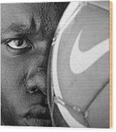 Tough Like A Nike Ball Wood Print by Val Black Russian Tourchin