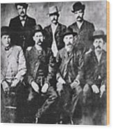 Tough Men Of The Old West Wood Print