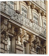 Toulouse Facade Wood Print