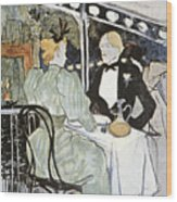 Toulouse-lautrec: Menu Wood Print