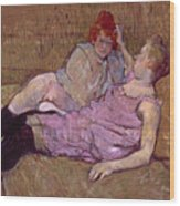 Toulouse Lautrec The Sofa Wood Print