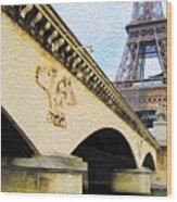 Tour De Eiffel Wood Print