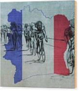 Tour De France Wood Print