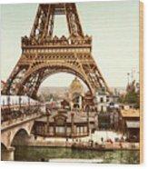 Tour Eiffel  Exposition Universelle Wood Print