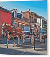 Touring The French Quarter Wood Print