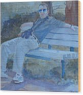Tourist At Rest Wood Print
