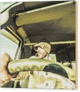 Tourist Sightseeing In Van Wood Print