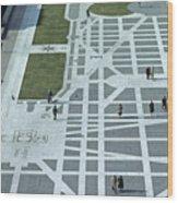 Tourists Walking Along Freedom Plaza Wood Print