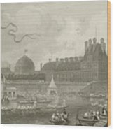 Tournay On The Seine During The July Fetes Wood Print