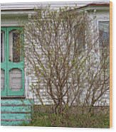 Tourquoise Door Wood Print