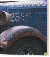 Tow Truck- 4 Wood Print