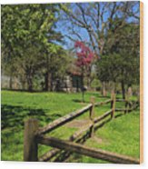 Toward The Cabin Wood Print