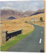 Towards The Mountain Wood Print