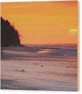 Towards The Sunset Wood Print