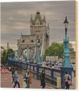 Towards Tower Bridge, London  Wood Print