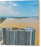 Tower And Guayas River Wood Print