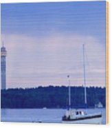 Tower And Masts Wood Print