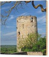 Tower At Chateau De Chinon Wood Print
