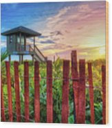 Tower At The Dunes Wood Print