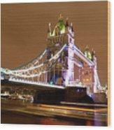 Tower Bridge Evening Wood Print