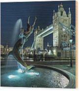 Tower Bridge In London Wood Print by Vulture Labs