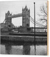 Tower Bridge In November Wood Print