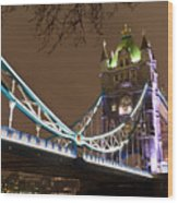 Tower Bridge Lights Wood Print