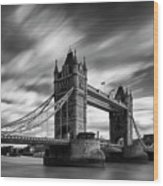 Tower Bridge, River Thames, London, England, Uk Wood Print