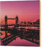 Tower Bridge, London. Wood Print