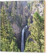Tower Fall Yellowstone Wood Print