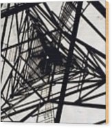Tower Grid Wood Print