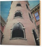 Tower In Lyon France Traboules Wood Print