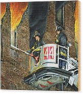 Tower Ladder 44-south Bronx Wood Print