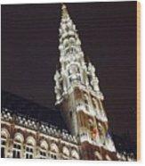 Brussels Tower Light Wood Print